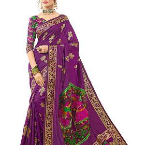 Purple Colour Designer Banarasi Silk Gulabguni Silk Saree