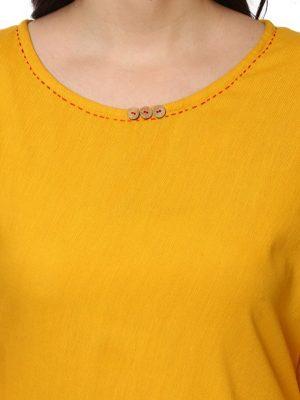 Women Yellow Solid Anarkali Kurta