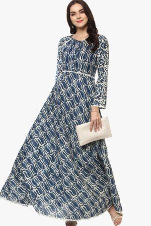 Blue Printed Anarkali Kurta