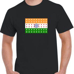 India Flag LED T-Shirt
