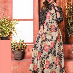 Reyon Fabric Multicolor Kurti