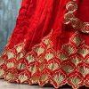 Bangalore Strain Silk Embroidery Red Lehenga Choli