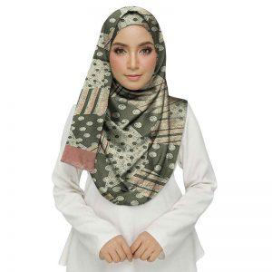 Grey Premium Cotton Printed Women'S Stole