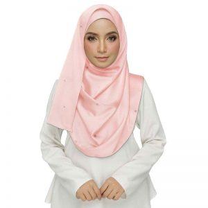 Pink Satin Plain Stole