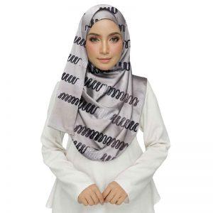 Grey Color Cotton Chain Work Stole