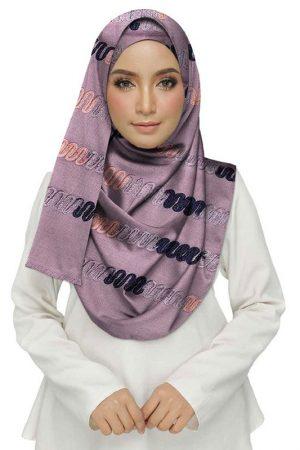 Purple Color Cotton Chain Work Stole