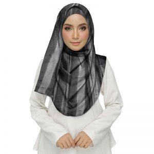 Black Color Striped Cotton Women'S Stole