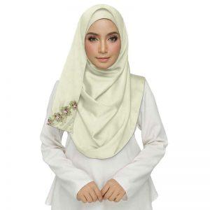 White Best Seller Designer Cotton One Sided Hijab