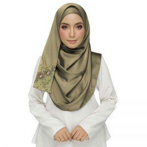 Brown Best Seller Designer Cotton One Sided Hijab