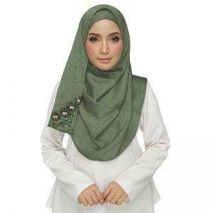 Green Best Seller Designer Cotton One Sided Hijab