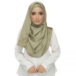 Most Sold Brown Color Designer Diamond Studed Hijab Brown