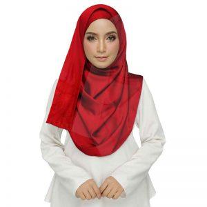 Premium Cotton Red String Studed Crocia Hijab