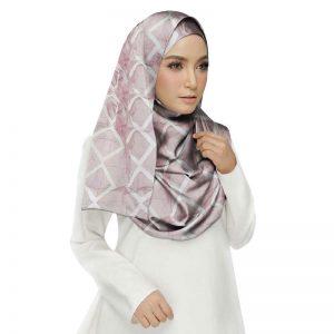 Premium Cotton Pink Designer Zic Zac Grid Hijab