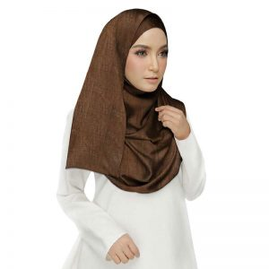 Premium Cotton Brown Plain Crush Stole