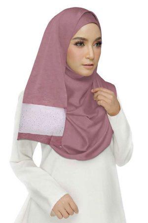 Maroon Double Sided Diamond Studed Tissue Hijab