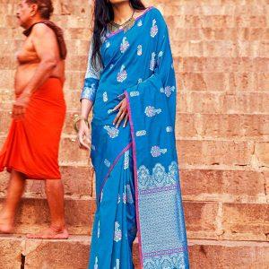 Kanthrishi Green Colour Soft Silk Saree
