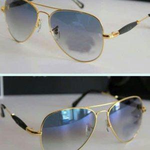 Golden And Black Color Sunglasses