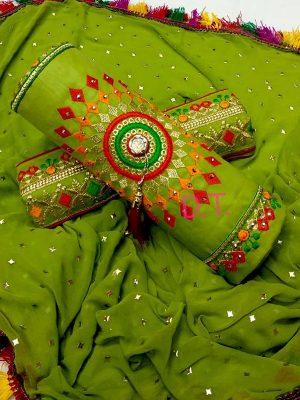 Light Green Cotton Regular Wear Payal Work Salwar Suit