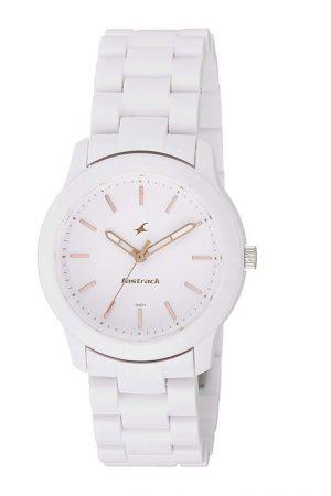 Fastrack Trendies Analog White Dial Women'S Watch-68006Pp02