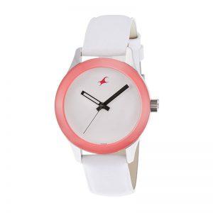 Fastrack Monochrome Analog White Dial Women'S Watch -Nk6078Sl01