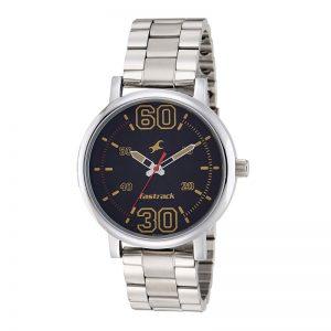 Fastrack Fundamentals Analog Black Dial Men'S Watch - 38052Sm02