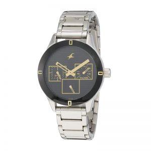 Fastrack Monochrome Analog Black Dial Women'S Watch -Nk6078Sm09