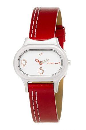 Fastrack Analog White Dial Women'S Watch -Nk2394Sl01