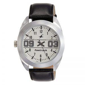 Fastrack Varsity Analog Silver Dial Men'S Watch - 3175Sl01
