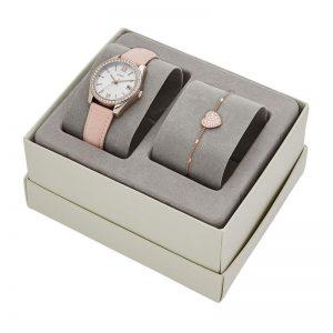 Fossil Analog Multi-Colour Dial Women'S Watch-Es4607 Set