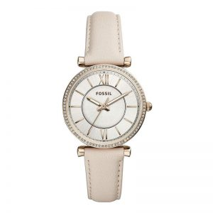Fossil Carlie Analog Silver Dial Women'S Watch-Es4465