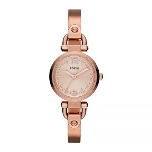 Fossil Georgia Analog Pink Dial Women'S Watch Es3268