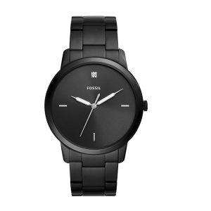 Fossil The Minimalist 3H Analog Black Dial Men'S Watch - Fs5455