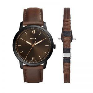 Fossil Analog Black Dial Men'S Watch-Fs5557Set