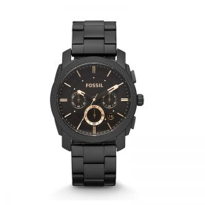 Fossil Analog Black Dial Unisex Watch - Fs4682