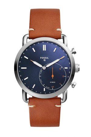 Fossil Hybrid Watch Analog Blue Dial Men'S Watch - Ftw1151