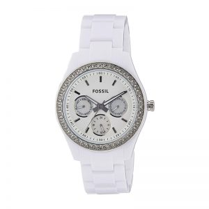 Fossil End Of Season Stella Analog White Dial Women'S Watch - Es1967I