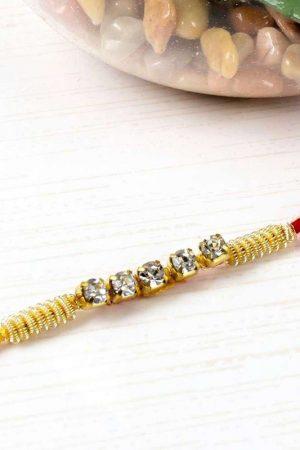 Zardosi Work Diamond Rakhi