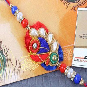 Pearl Beads Zardosi Rakhi