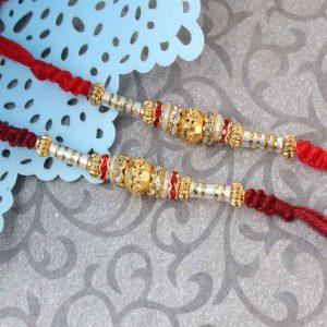 Pair of Two Charming Designer Rakhi