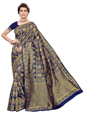 Banarasi Rich Pallu Printed Saree With Blouse