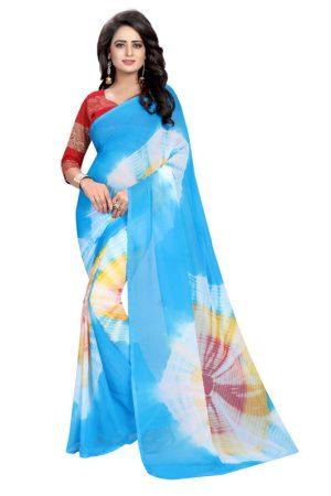 Shristi Multi Shiffon Saree With Blouse