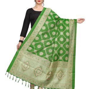 Green Khadi Dupatta
