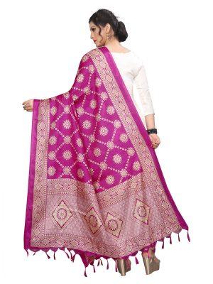 Pink Khadi Dupatta