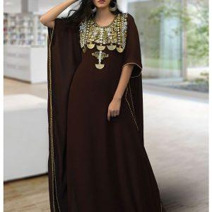 Moroccon Style Brown Color Kaftan