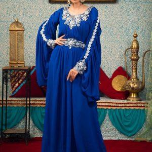 Arabic Muslim Blue Color Kaftan