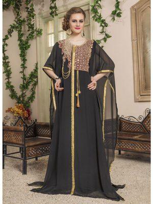 Women Black Color Free Size Kaftan