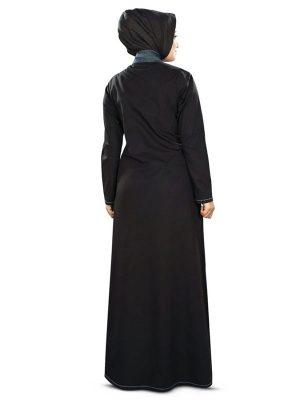 Womens Abaya Black Color Long