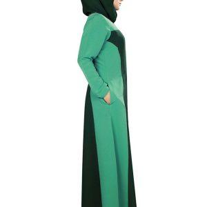 Womens Abaya Green Color Modest Dress