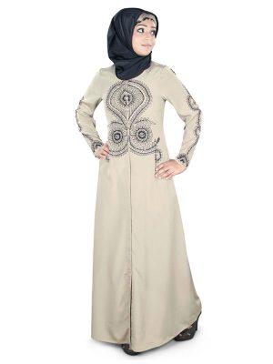 Womens Abaya Beige Color Muskan