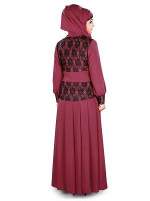 Womens Abaya Pink Color Casual Wear
